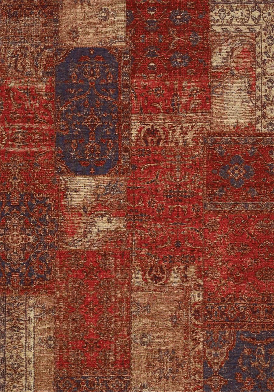 Cathedral Red Cream Blue Antique Patchwork Rug 7 6 X 10 10 Victoria Rose Decor