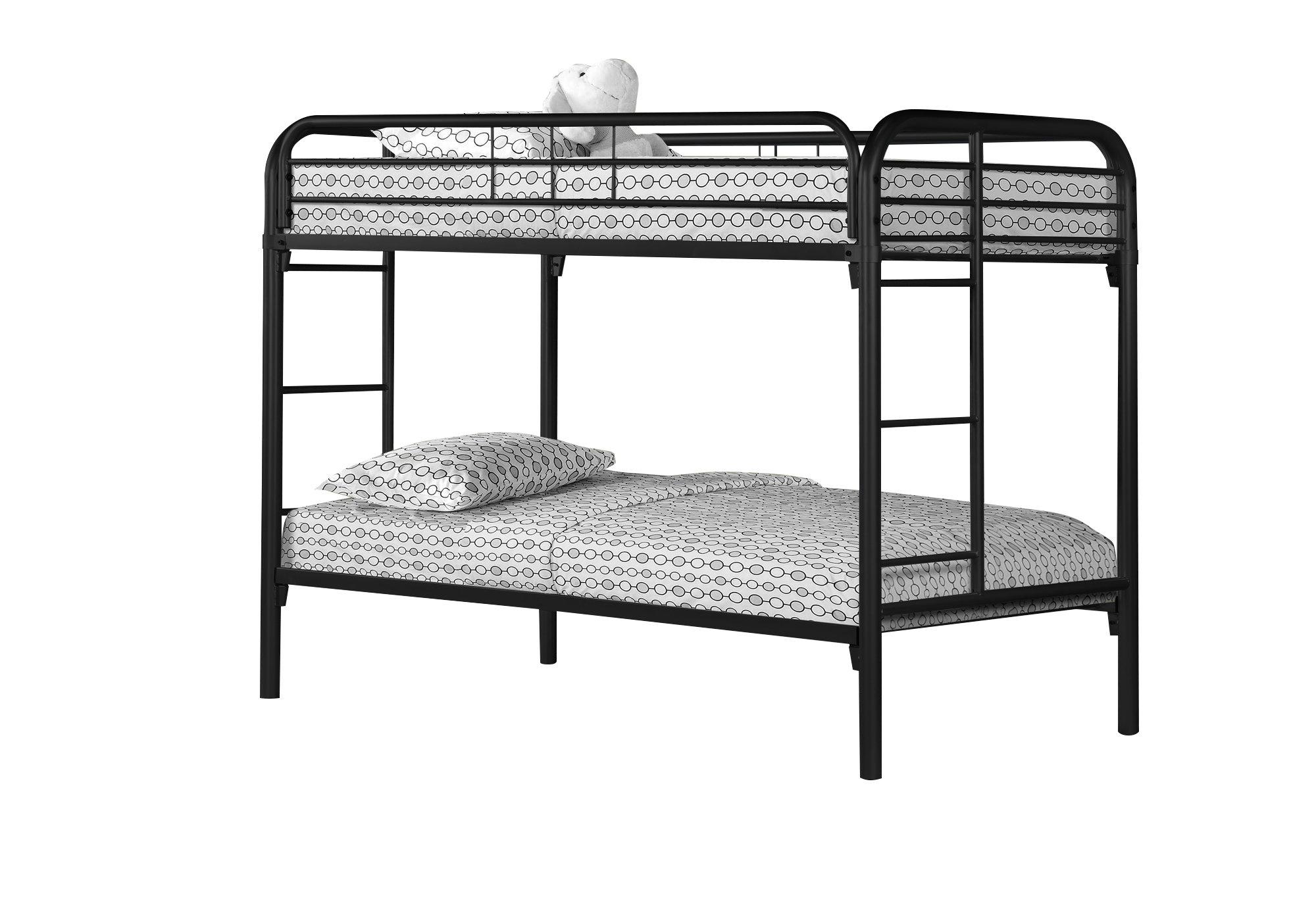 Bunk Bed Twin Twin Size Black Metal Victoria Rose Decor