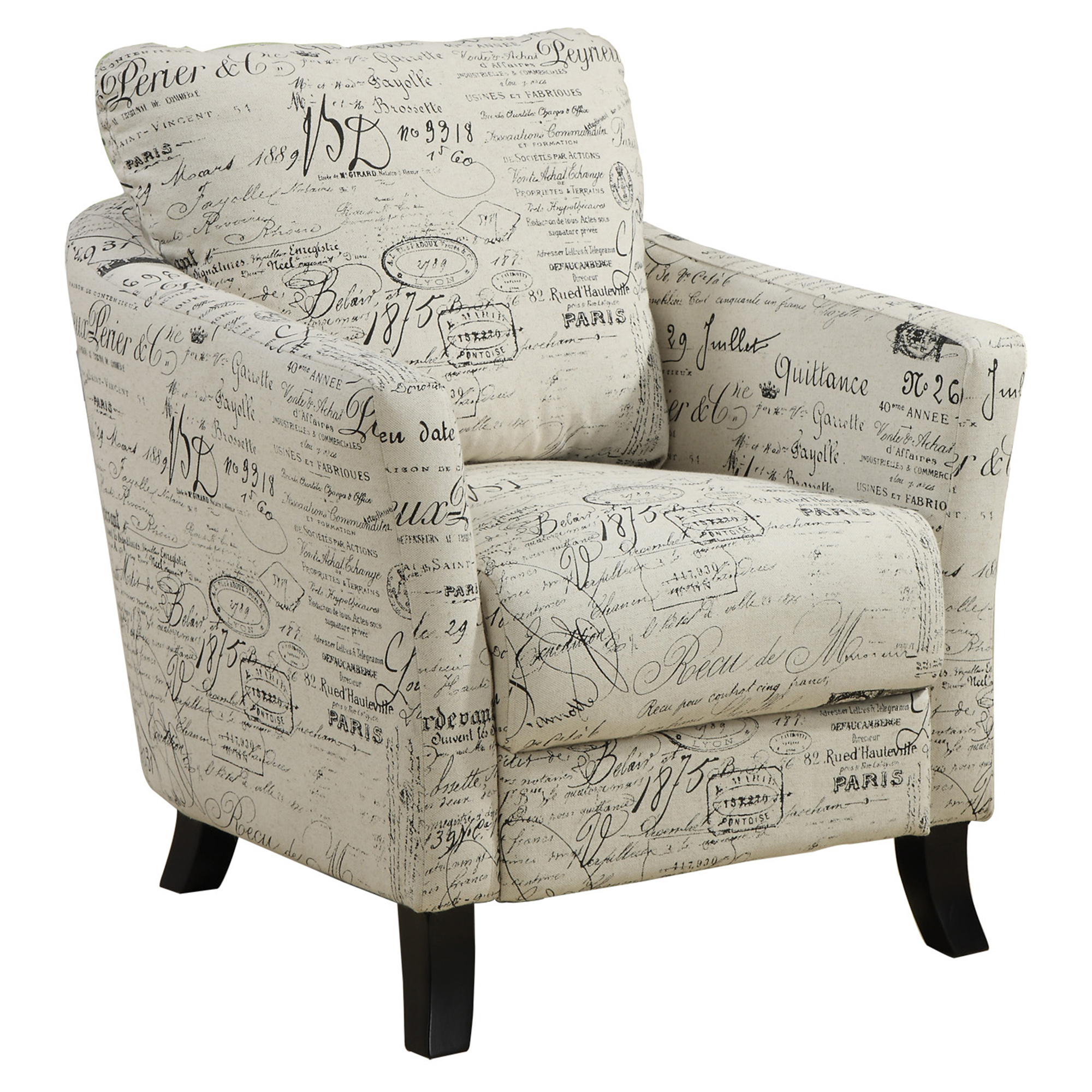 Accent Chair Vintage French Fabric