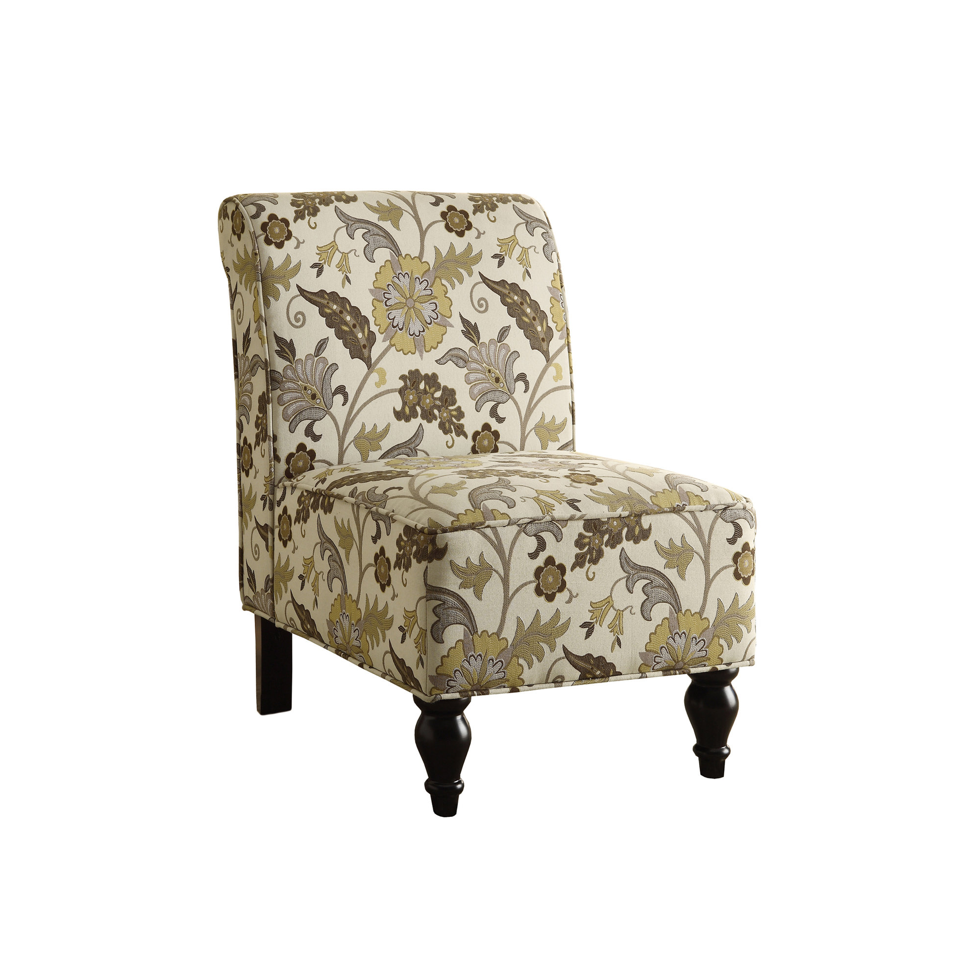 Pleasing Accent Chair Brown Gold Floral Traditional Fabric Alphanode Cool Chair Designs And Ideas Alphanodeonline