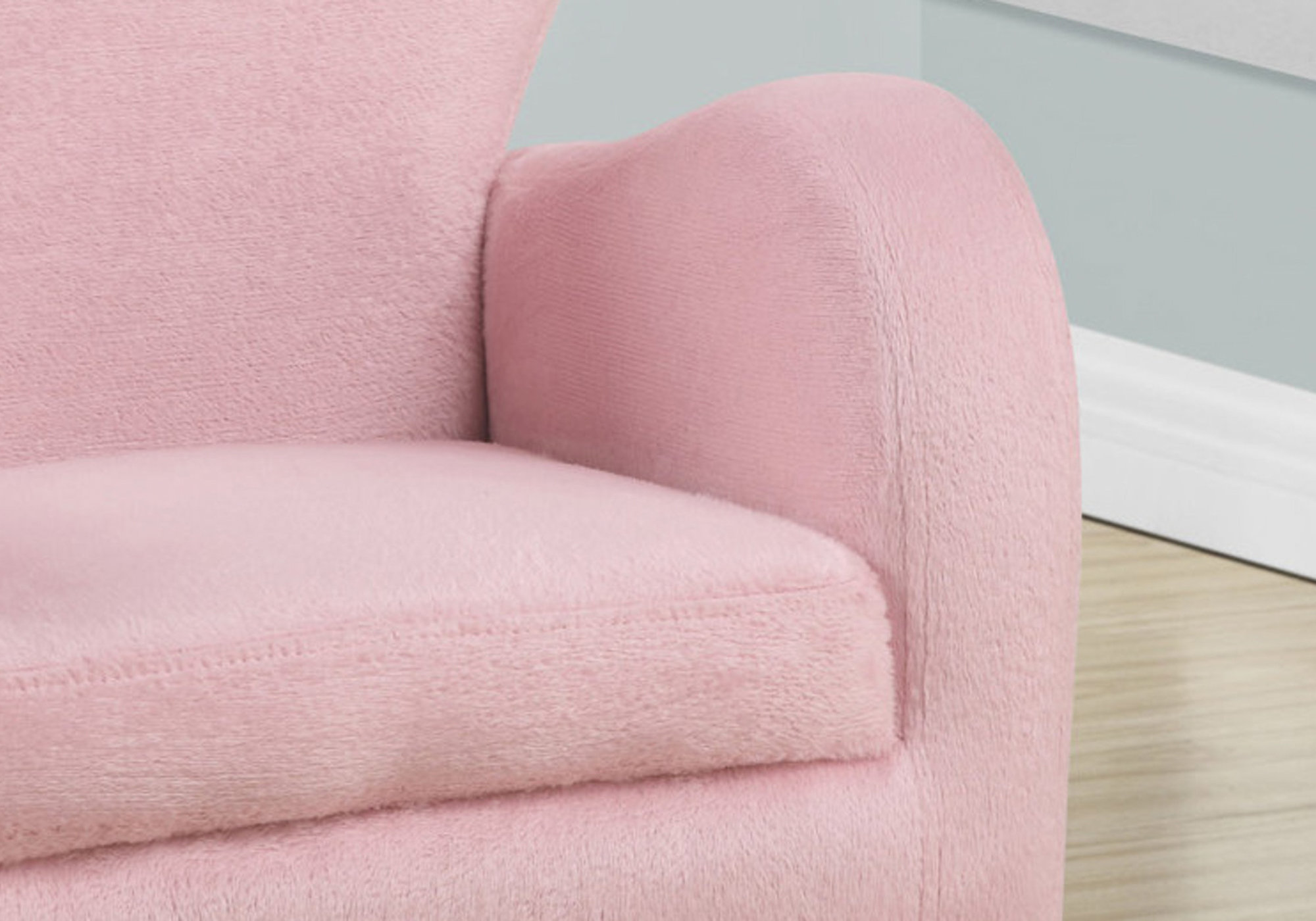 Juvenile Chair Fuzzy Pink Fabric Victoria Rose Decor