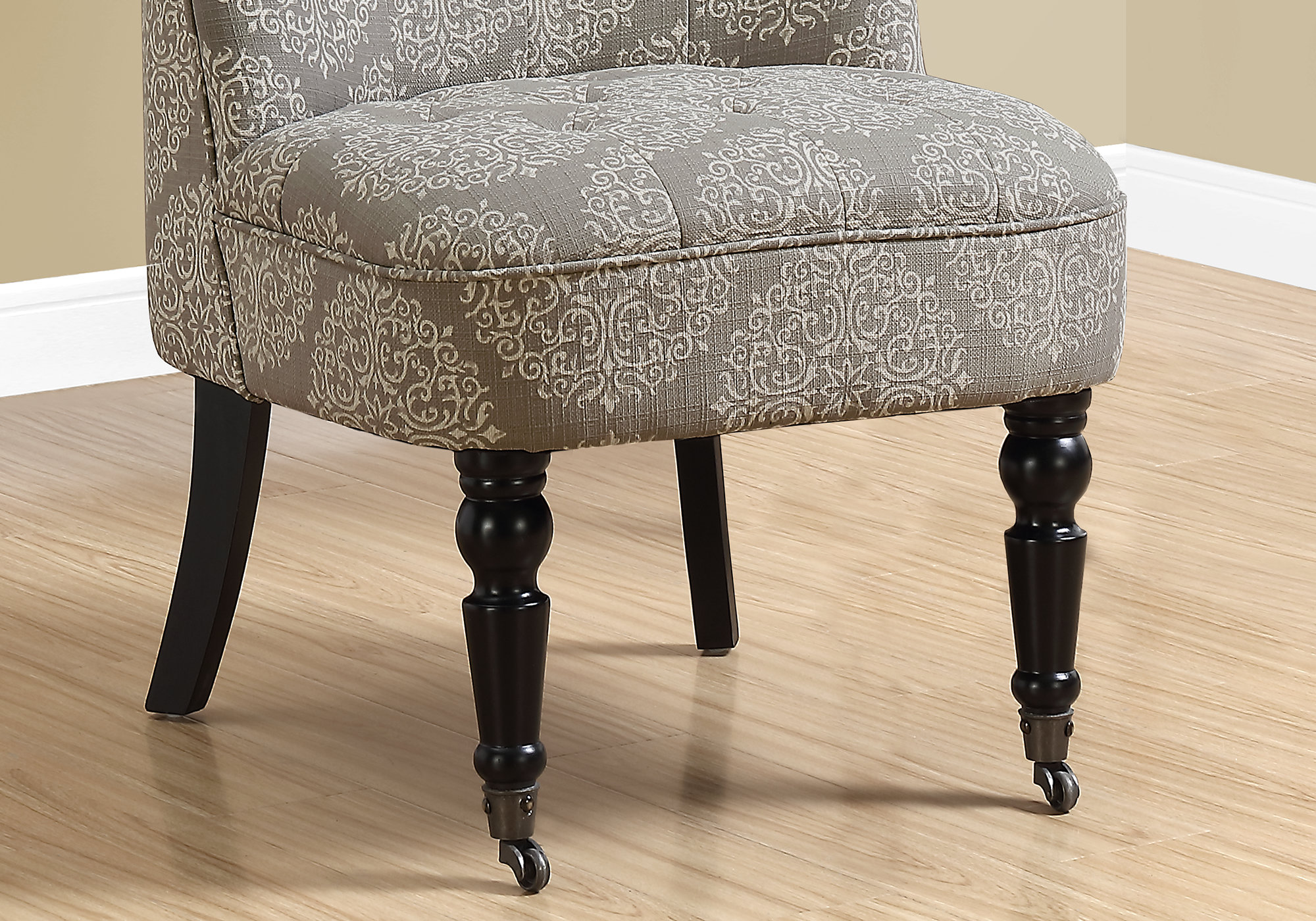 Astounding Accent Chair Traditional Style Taupe Snowflake Fabric Dailytribune Chair Design For Home Dailytribuneorg