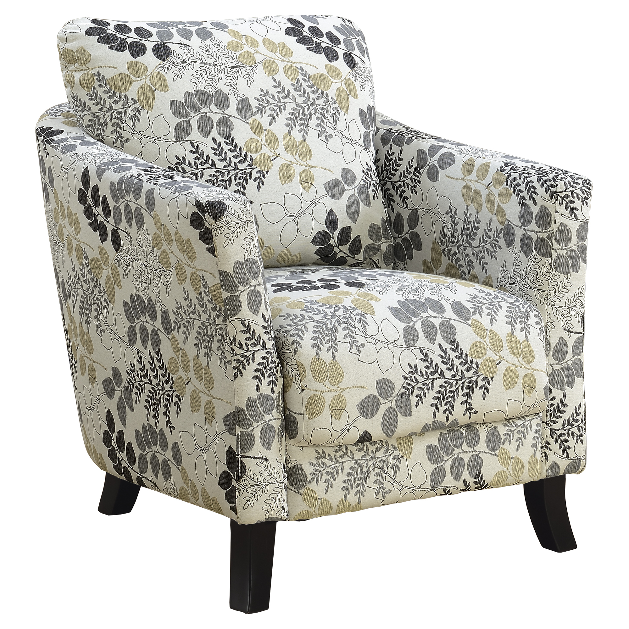 Picture of: Accent Chair Earth Tone Floral Fabric Victoria Rose Decor